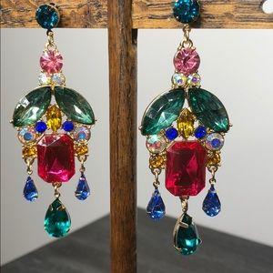 Jewelry - Colorful Rhinstone Statement Earring